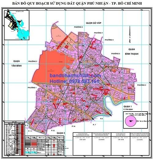 Bản đồ quy hoạch quận Phú Nhuận TP HCM