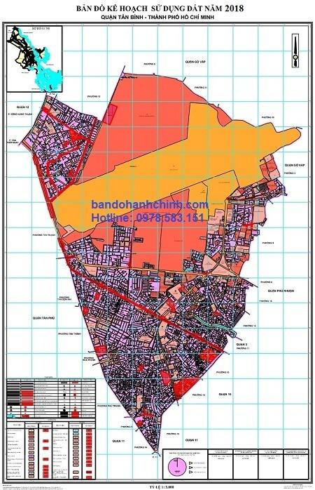 Bản đồ quy hoạch quận Tân Bình TP HCM