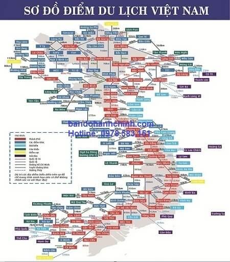 Bản đồ Các Điểm Du Lịch Việt Nam
