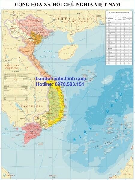 Bản đồ Việt Nam mẫu 14