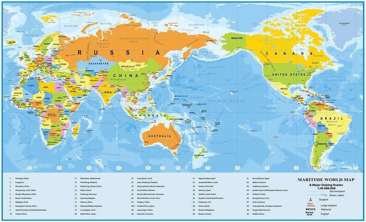 Bản Đồ Cảng Biển Thế Giới