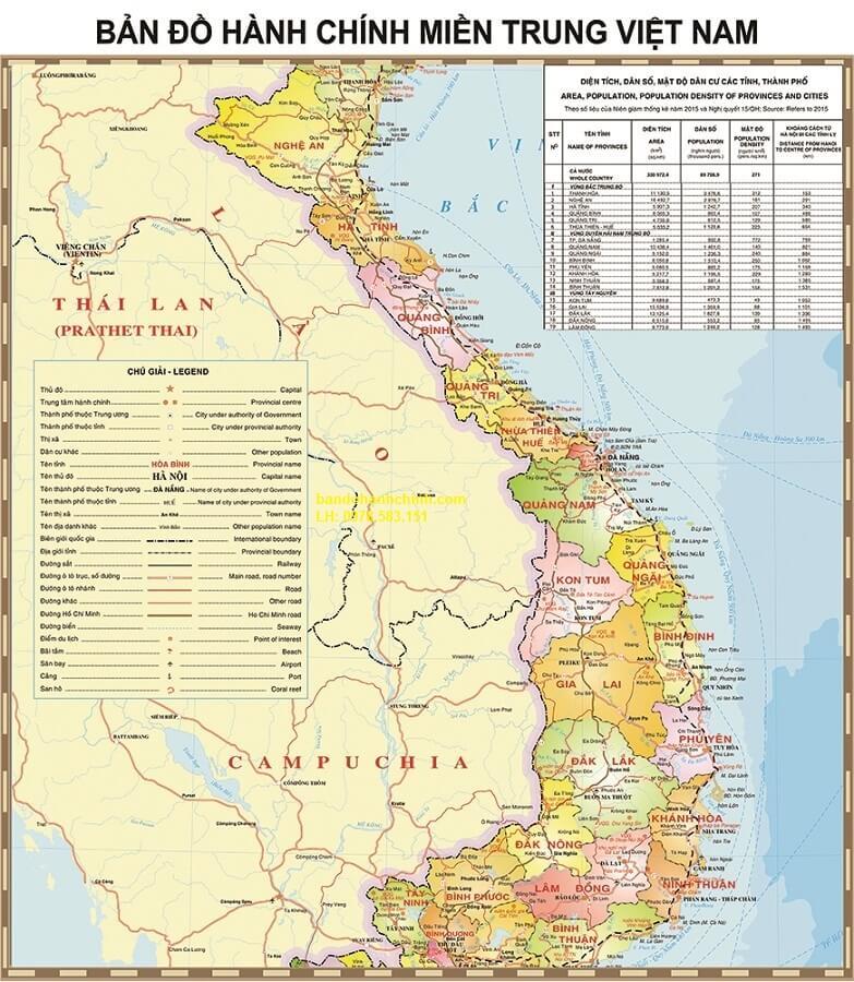 Bản Đồ Miền Trung Việt Nam