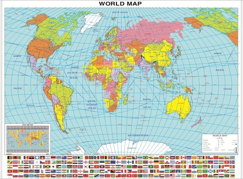 Bản Đồ Hành Chính Thế Giới