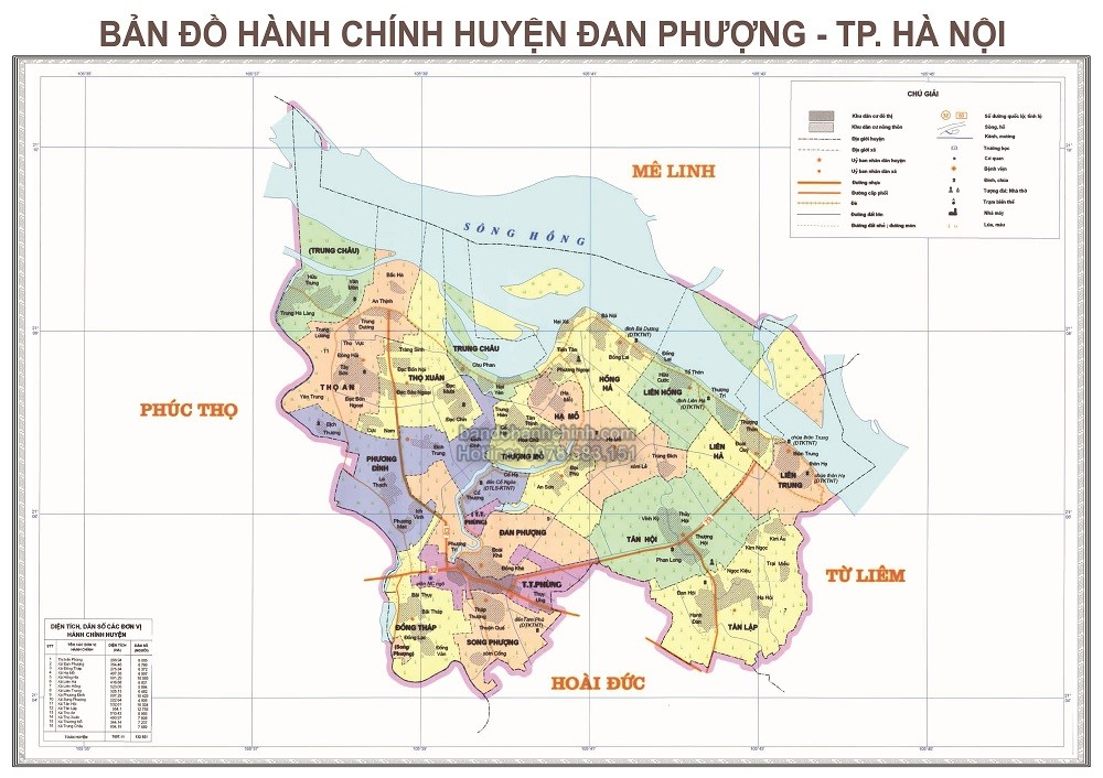 ban do huyen Dan Phuong thanh pho Ha Noi