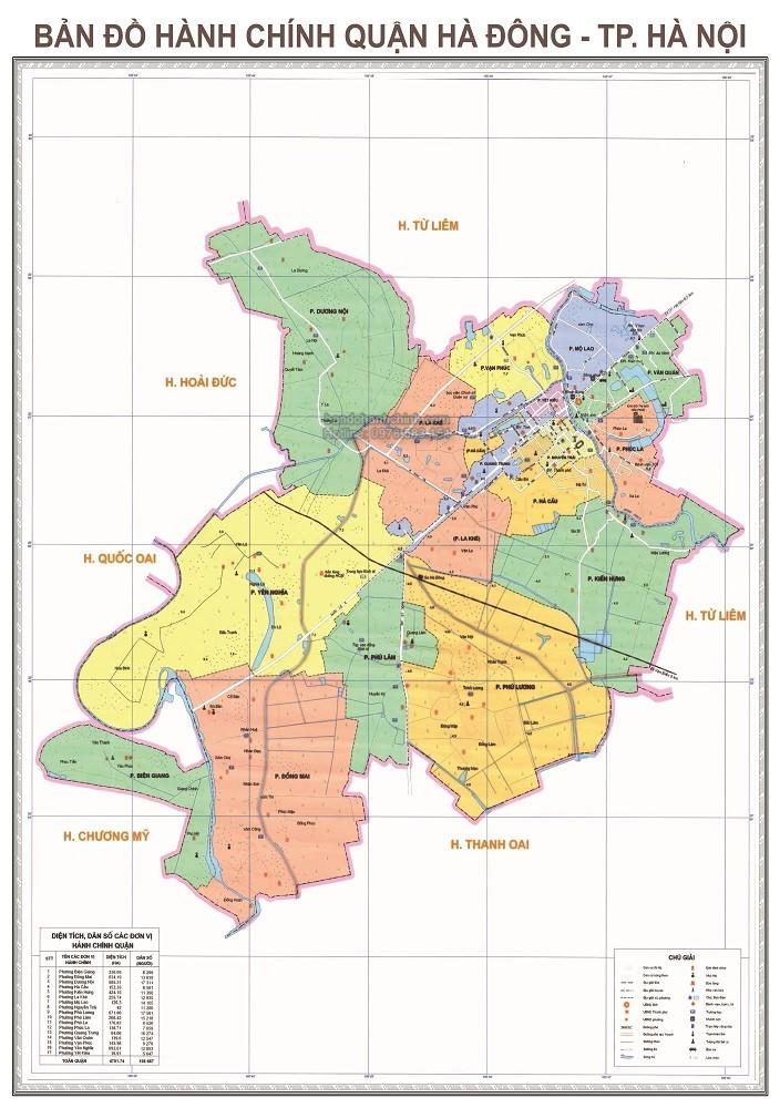 Bản Đồ Hành Chính Quận Hà Đông Thành Phố Hà Nội