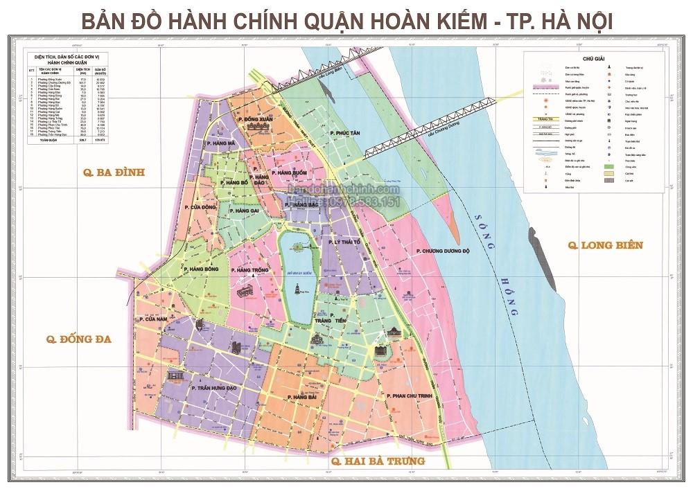 Bản Đồ Hành Chính Quận Hoàn Kiếm Thành Phố Hà Nội
