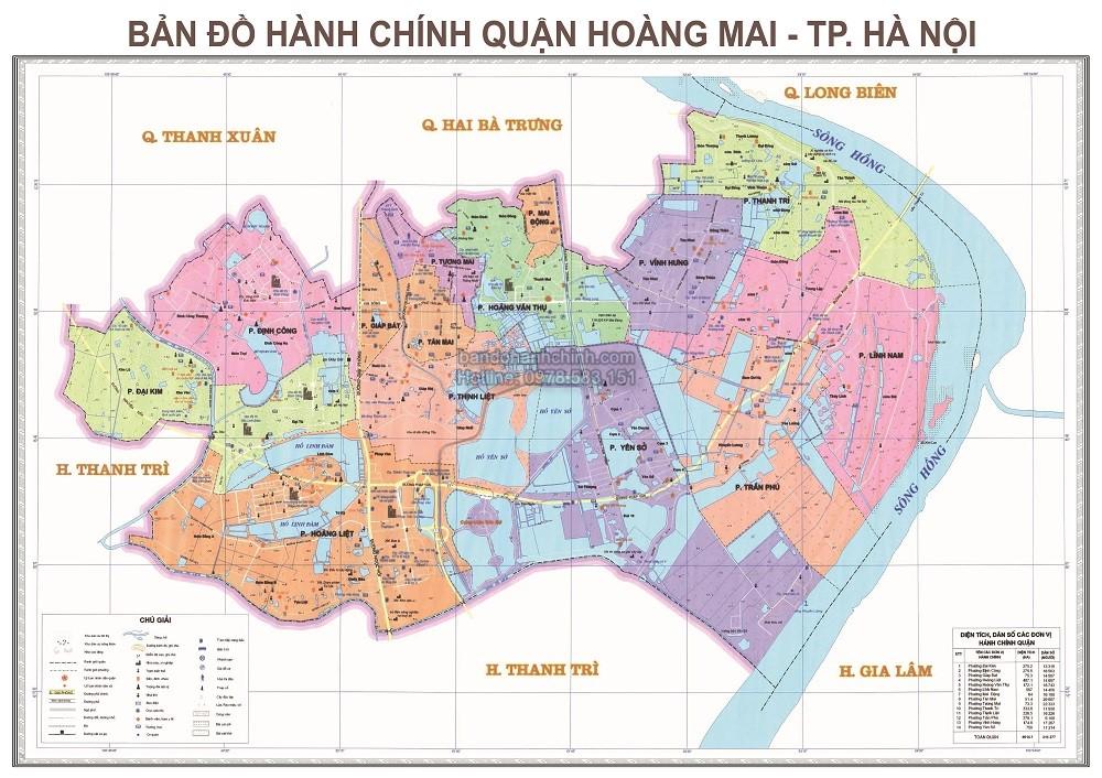 Bản Đồ Hành Chính Quận Hoàng Mai Thành Phố Hà Nội