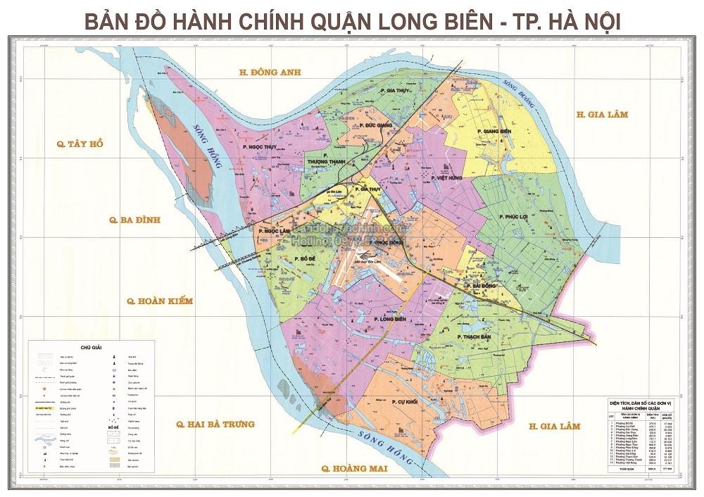 Bản Đồ Hành Chính Quận Long Biên Thành Phố Hà Nội