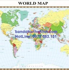Bản đồ thế giới khổ lớn mẫu 36