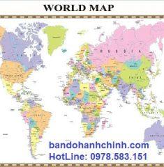 Bản đồ thế giới khổ lớn mẫu 31