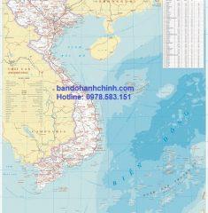 Bản đồ Việt Nam mẫu 10
