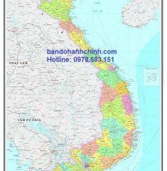 Bản đồ Việt Nam mẫu 15