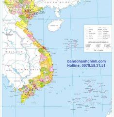 Bản đồ Việt Nam khổ lớn mẫu 2