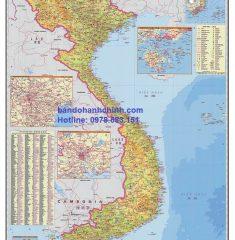 Bản đồ Việt Nam Tiếng Trung Mẫu 2